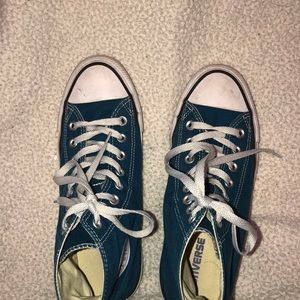 Blue/Dark Turquoise High Top converse(will clean)